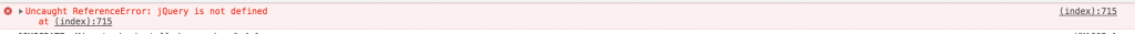 Google Analytics: Uncaught ReferenceError: jQuery is not defined